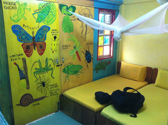 Cute and colourful at Tahan Guesthouse. No sheets tho!