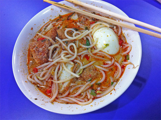 Far from the best laksa I've had, but it was just $5