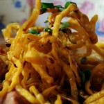 Still life with fried crispy noodle