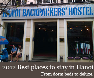 Best places to stay in Hanoi 2012