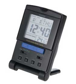 Casio Auto Calendar Thermometer Travel Clock