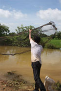 Casting a fishing net